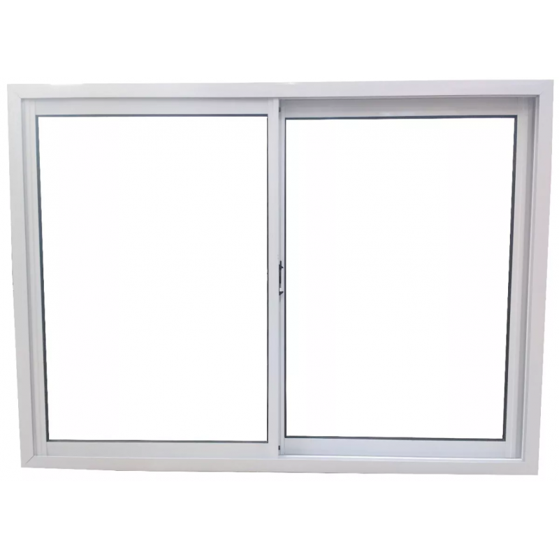 Ventana aluminio blanco 150x110 con vidrio for Ver ventanas de aluminio blanco