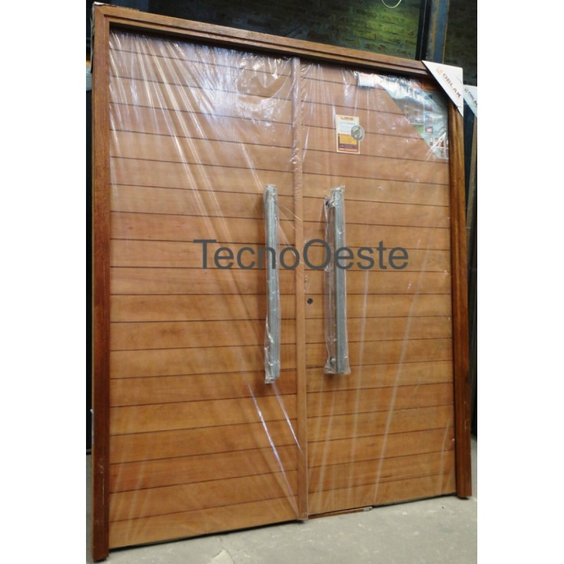 Puerta doble 2331 madera grandis oblak c 2 barrales - Puertas doble hoja ...