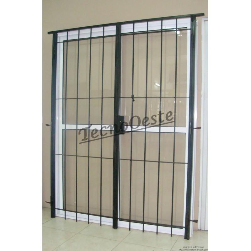 Puerta ventana balc n 150x200 con puerta reja - Puertas de reja ...