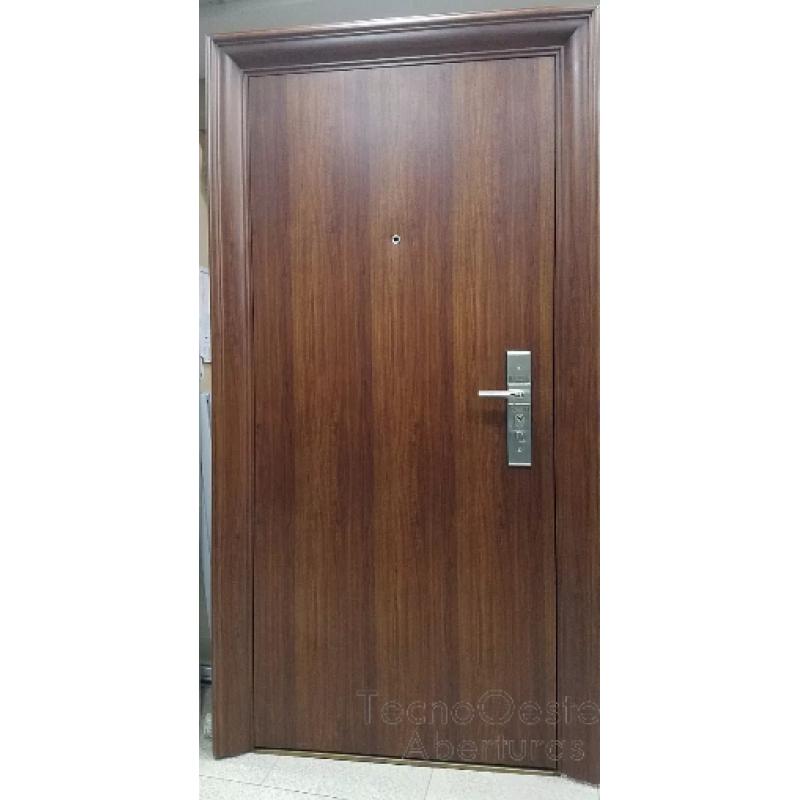 Puerta de seguridad multianclaje doble chapa anti entradera - Puerta de chapa ...