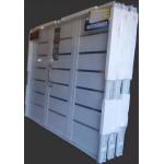 Porton Garage Nexo Inyectado Blanco Apliques Acero Inoxidable