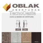 Puerta Oblak Tekstura Quadra Nogal 70x200 cm.
