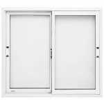 Ventana Oblak Varesenova 120x110 Aluminio Blanco con Vidrio