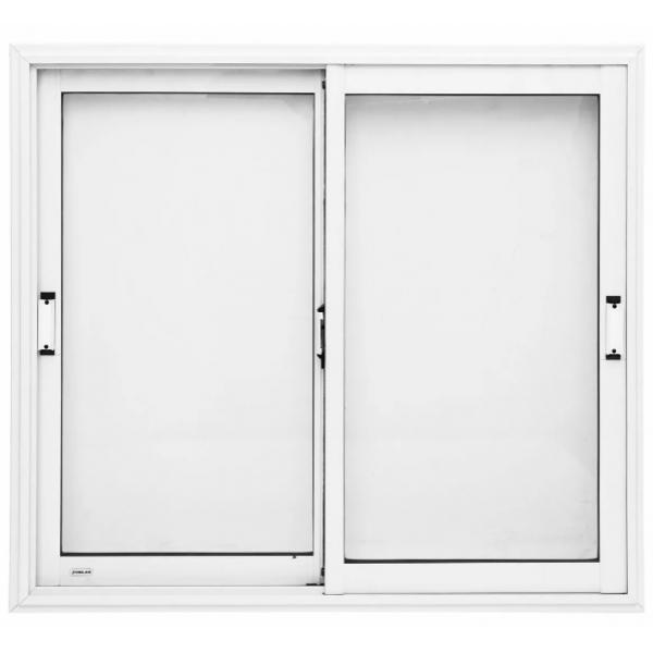 Ventana Oblak Varesenova 150x110 Aluminio Blanco con Vidrio