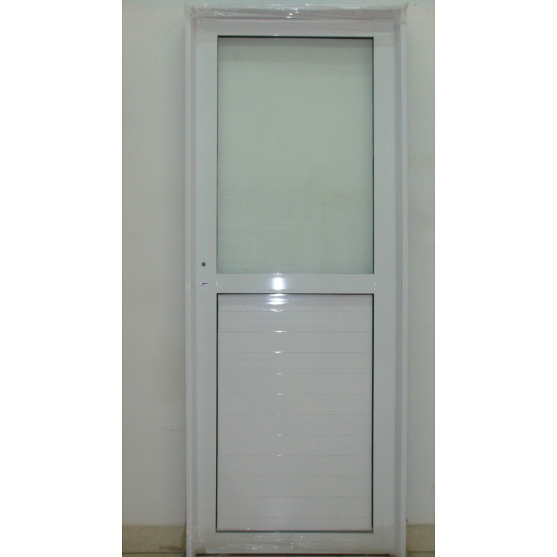 Puerta aluminio 1 2 vidrio entero 80x200 - Puertas de aluminio con cristal ...