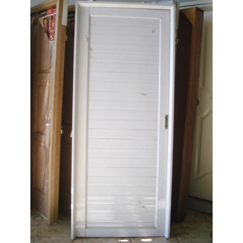 Puerta aluminio ciega exterior 80x200 - Puertas de aluminio de exterior ...
