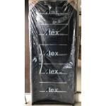 Puerta Atex Negra C/apliques Y Barral Curvo 80x200 Cm.