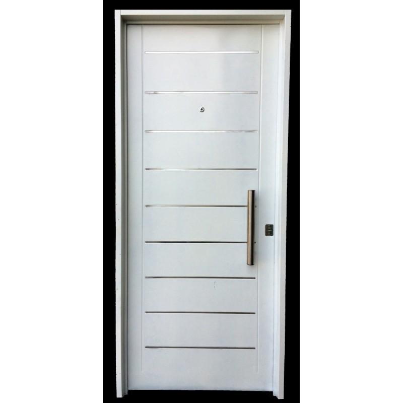 Puerta inyectada atex c apliques y barral for Puerta zaguan aluminio