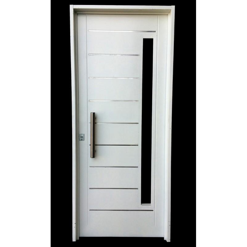 Puerta inyectada atex 80x200 con postigo apliques y barral - Tipos de bisagras para puertas ...