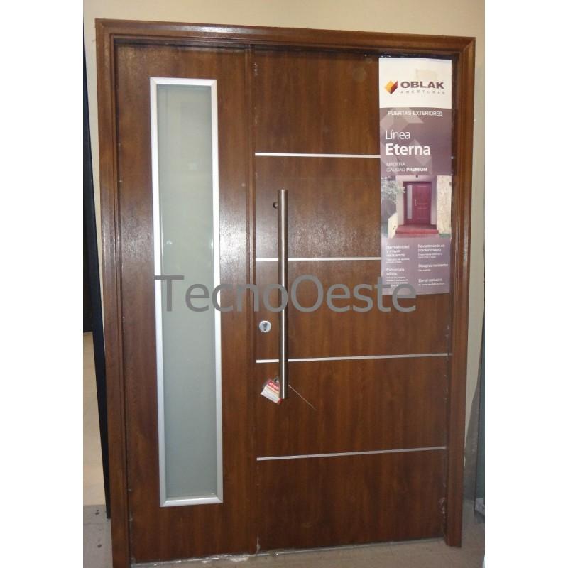 Puerta Residencial Eterna 1183 Con Lateral Vidriado