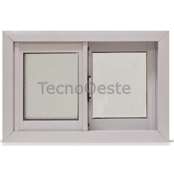 Ventana Aluminio Blanco 60x40 Con Vidrios fantasía