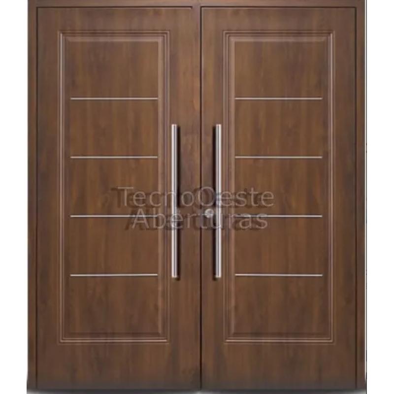 Puertas dobles de madera free suelo de roble espigado for Puertas dobles de madera exterior