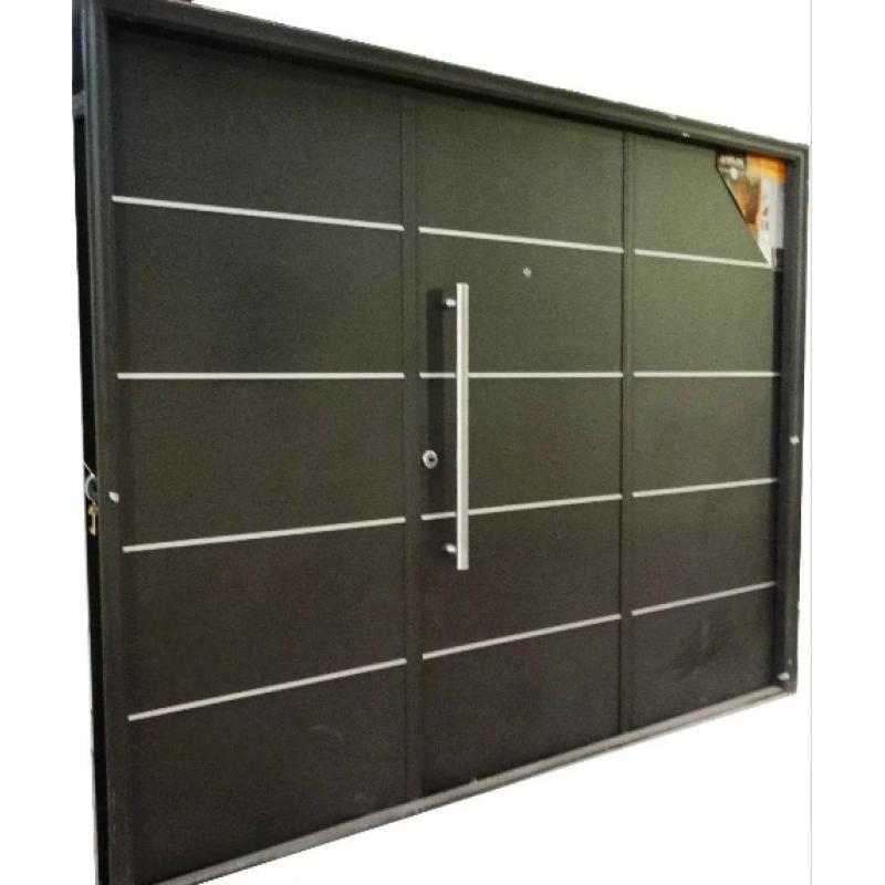 Porton levadizo automatico oblak inyectado 1783 grafito for Puerta zaguan aluminio