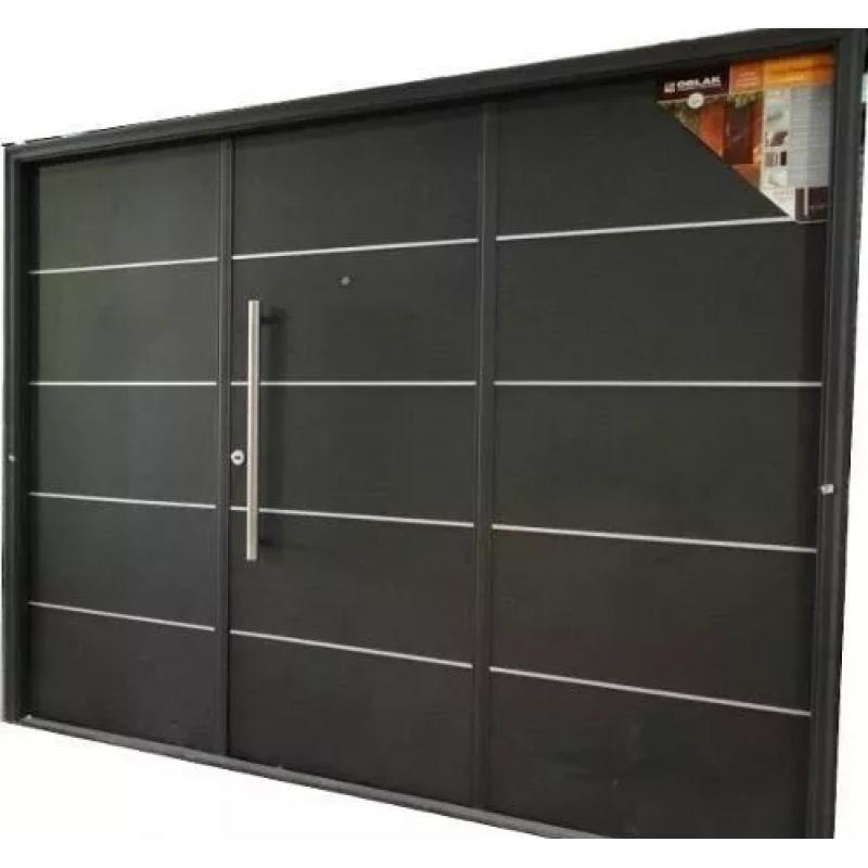 Porton levadizo automatico oblak inyectado 1783 grafito for Ver precios de puertas de madera