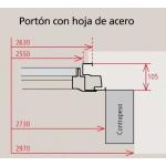 Porton Levadizo Automatico Oblak Inyectado 1783 Grafito 240x200
