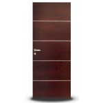 Puerta Oblak Luxor Horizontal Lustrada tono Caoba 80x200 cm.