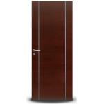 Puerta Oblak Luxor Vertical Lustrada tono Caoba 80x200 cm.