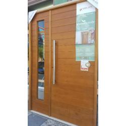 Buscar puerta y media for Puertas madera exterior precios