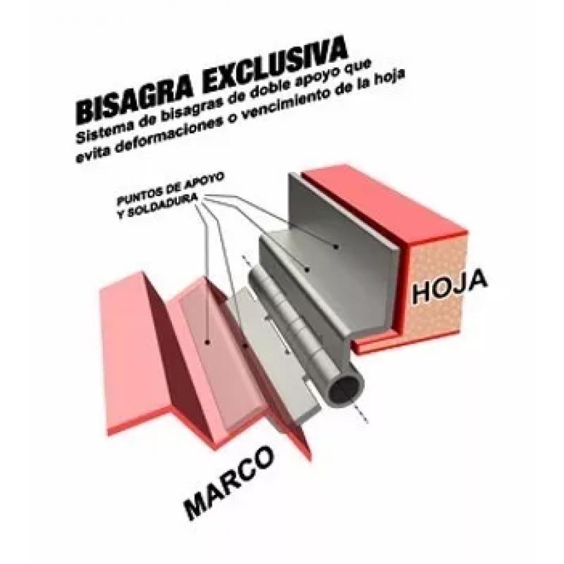 Puerta seguridad chapa cerradura doble cerrojo tecnooeste - Cerrojo de seguridad para puertas ...